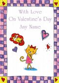 Add A Name Valentine-Cat In Love